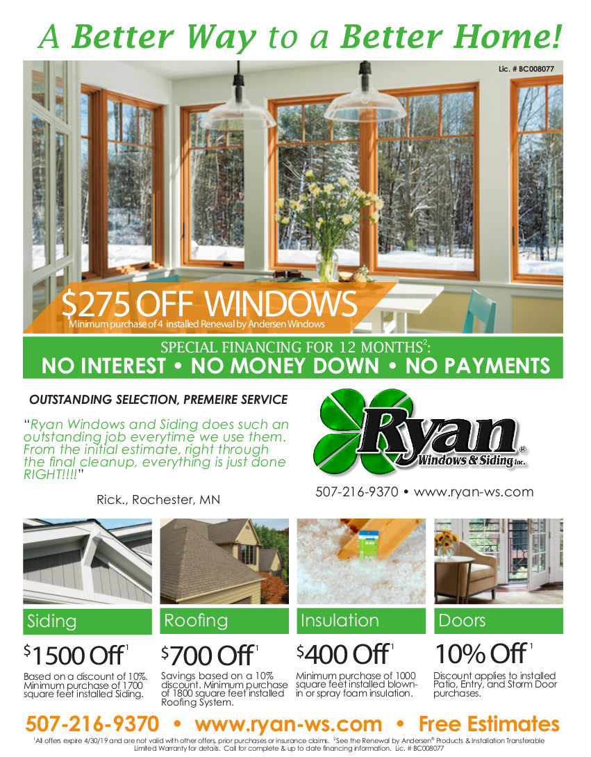 Save on Replacement Windows & Doors | Rochester MN